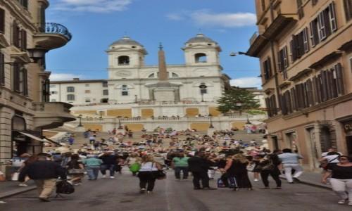 WłOCHY / Lazio / Rzym / Rzym, Widok na plac hiszpański