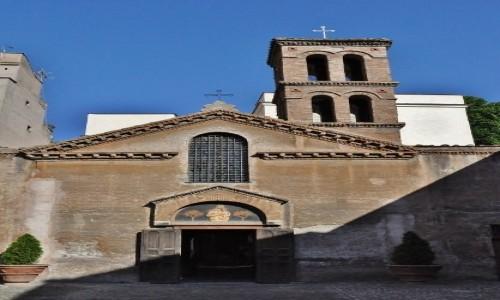 Zdjęcie WłOCHY / Lazio / Rzym / Zatybrze, kaplica z freskamiz VIII w.