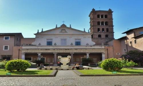 Zdjęcie WłOCHY / Lazio / Rzym / Zatybrze, bazylika św. Cecylii