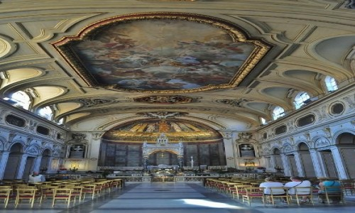 WłOCHY / Lazio / Rzym / Zatybrze, bazylika św. Cecylii