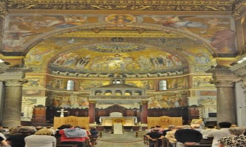 Zdjęcie WłOCHY / Lazio / Rzym / Zatybrze, bazylika S. M. di Trastevere