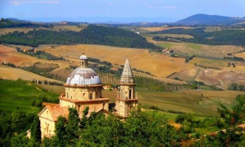 Zdjęcie WłOCHY / Toskania / Val d'Orcia / Toskański kościół