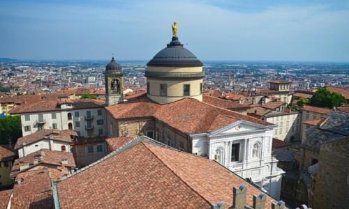 Zdjecie WłOCHY / Lombardia / Bergamo/Citta Alta / Św. Aleksander  w złocie