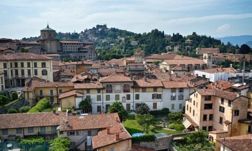 WłOCHY / Lombardia / Bergamo/Citta Alta / wzgórze San Vigilio