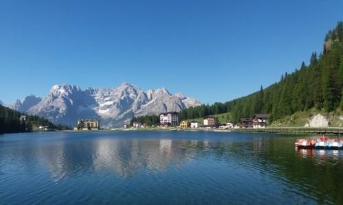 Zdjecie WłOCHY / - / Masyw Sorapis nad jeziorem Misurina / Dolomity