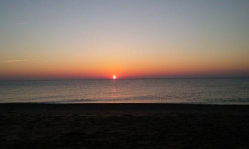 Zdjecie WłOCHY / Marche / Ankona / Wschód słońca nad Adriatykiem