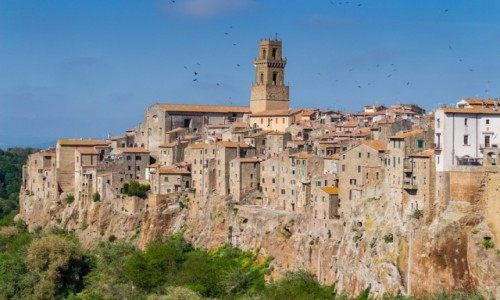 Zdjecie WłOCHY / Toskania / Pitigliano / Miasto na tufowej skale