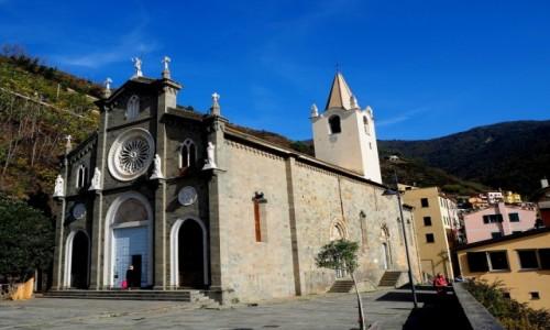 Zdjęcie WłOCHY / Liguria / Riomaggiore / Kościół św. Jana Chrzciciela