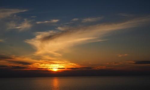 Zdjęcie WłOCHY / Liguria / Cinque Terre / Zachód słońca w Corniglii