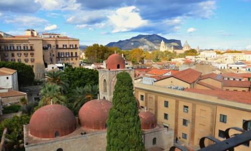 Zdjęcie WłOCHY / Sycylia / Palermo / Z widokiem na Kościół di San Giovanni degli Eremiti