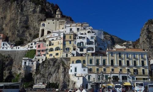 Zdjęcie WłOCHY / Kampania / Amalfi / panorama Amalfi od strony morza