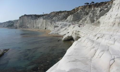 Zdjecie WłOCHY / Sycylia / południe Sycylii, w pobliżu Agrigento / Schody tureckie
