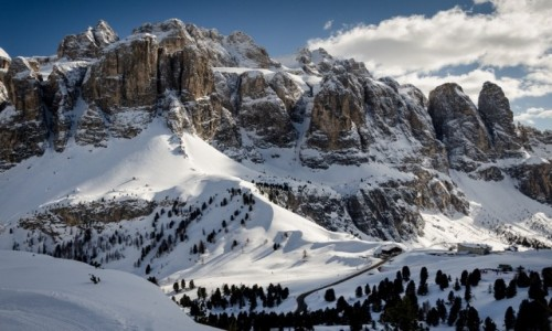 Zdjecie WłOCHY / Południowy Tyrol / Val Gardena / światłocień...