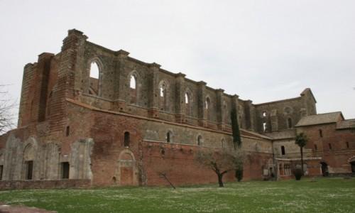Zdjecie WłOCHY / Toskania / Ruiny opactwa San Galgano / Toskania 2018