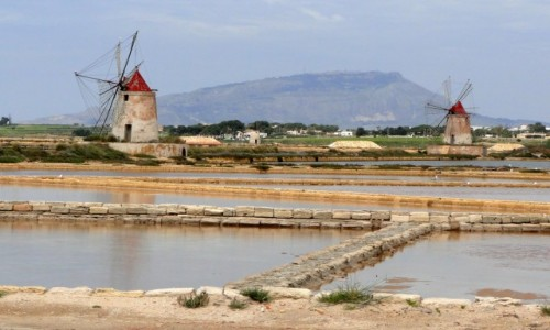 Zdjęcie WłOCHY / Sycylia / Marsala / Sycylijskie saliny.