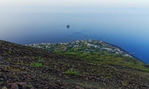 Zdjecie WłOCHY / wyspy eolskie / Stromboli / Stromboli panorama