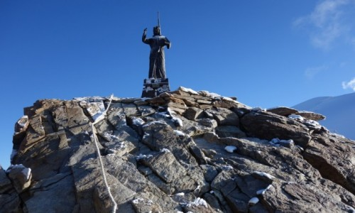 Zdjecie WłOCHY / Alpy Penińskie / Masyw Monte Rosa / Statua Cristo delle Vette