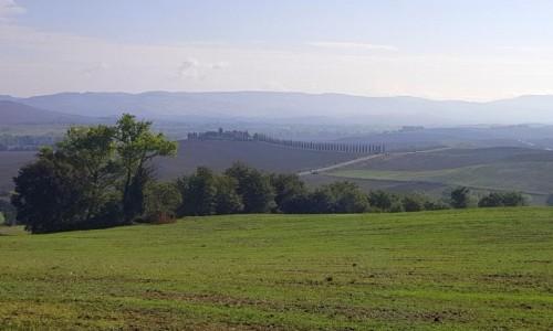 Zdjecie WłOCHY / Toskania / Val d'Orcia / W porannej mgle