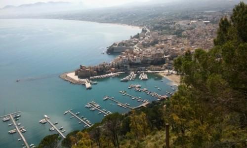 Zdjecie WłOCHY / Trapani/Sycylia / Castellammare del Golfo / Widok z klifu