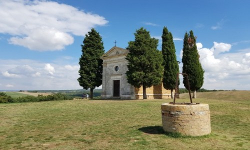 Zdjecie WłOCHY / Toskania / Capella della Madonna di Vitaleta / Bez tłumów