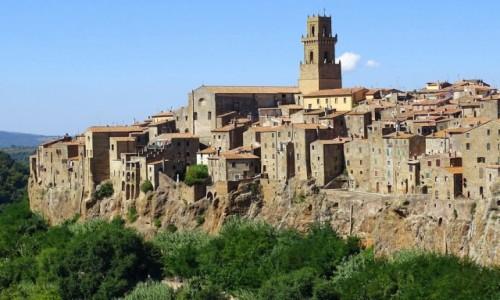 Zdjecie WłOCHY / Toskania-prowincja Grosseto / Pitigliano / Domy wyrastają ze skały