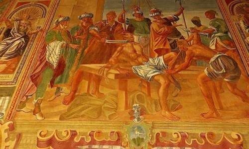 Zdjęcie WłOCHY / Salento / Galatina / bazylika św. Katarzyny Aleksandryjskiej - fresk w wirydarzu