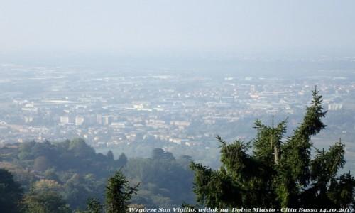 Zdjecie WłOCHY / Lombardia / Bergamo - Citta Bassa (dolne miasto) / Bergamo wzgórze San Vigilio, widok na dolne miasto - Citta Bassa