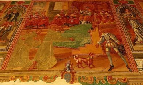 Zdjecie WłOCHY / Salento / Galatina / bazylika św. Katarzyny Aleksandryjskiej - fresk w wirydarzu