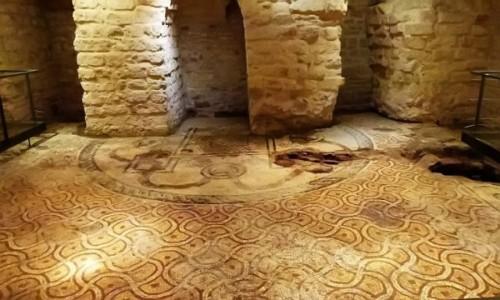 WłOCHY / Apulia / Bari / Museo del Succorpo della Cattedrale - mozaika wczesnochrześcijańskiej bazyliki z V w.