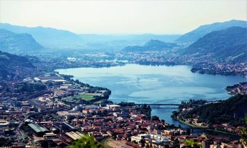 Zdjęcie WłOCHY /  Lecco / Góra San Martino / Widok na miasto