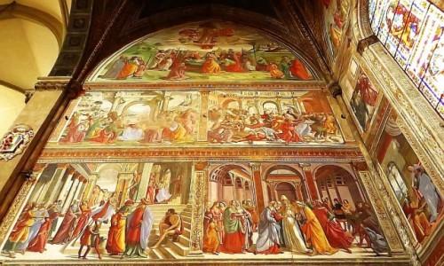 Zdjęcie WłOCHY / Toskania / Florencja / Santa Maria Novella - freski Ghirllandaio
