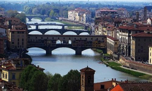 Zdjęcie WłOCHY / Toskania / Florencja / florenckie mosty