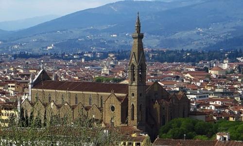 Zdjęcie WłOCHY / Toskania / Florencja / widok na bazylikę Santa Croce