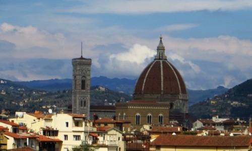 Zdjęcie WłOCHY / Toskania / Florencja / widok na katedrę z Giardino di Boboli