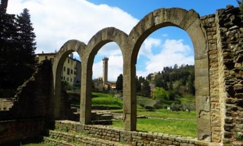 Zdjęcie WłOCHY / Toskania / Fiesole / rzymskie termy