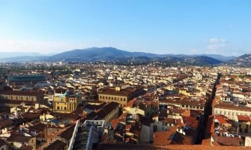 Zdjecie WłOCHY / Toskania / Florencja / panorama Florencji - widok z dzwonnicy
