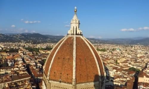 Zdjecie WłOCHY / Toskania / Florencja / kopuła katedry - widok z dzwonnicy