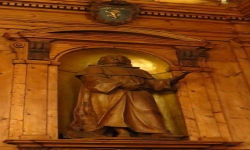 Zdjecie WłOCHY / Emilia-Romania / Bolonia / Palazzo dell'Archiginnasio - statua profesora