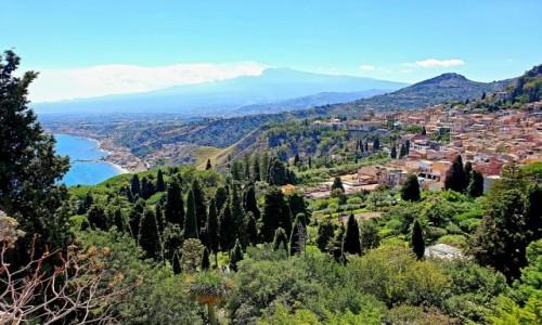 WłOCHY / Sycylia / Taormina / Widok na Etnę