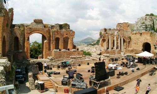 Zdjecie WłOCHY / Sycylia / Taormina / Amfiteatr z widokiem na Etnę