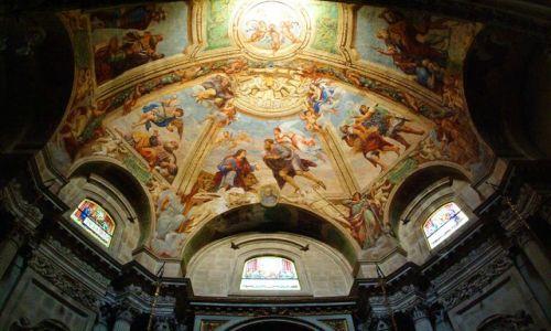 Zdjecie WłOCHY / Sycylia / Ortiglia / Malowidła sufit