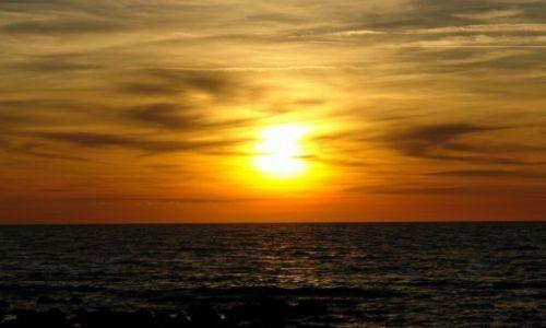 Zdjecie WłOCHY / Lazio / Santa Marinella / Zachód Słońca nad Morzem Tyreńskim