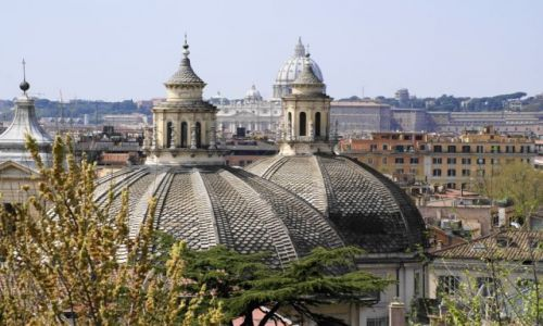 Zdjęcie WłOCHY / Lazio / Rzym/Piazza del Popolo / Kopułki