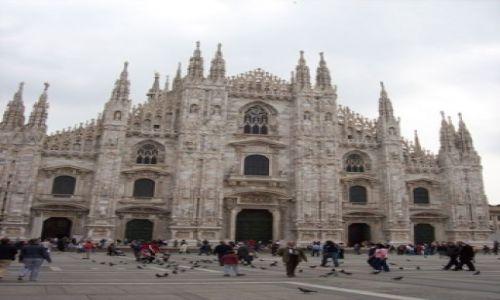 Zdjecie WłOCHY / brak / Mediolan / słynna katedra w Mediolanie