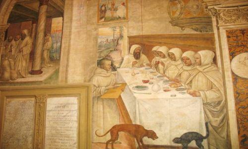 WłOCHY / Toskania / Monte Oliveto Maggiore / Pochwała uczty