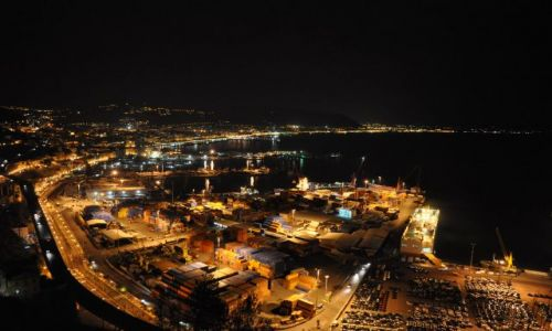 Zdjęcie WłOCHY / Kampania / Salerno / Port nocą.