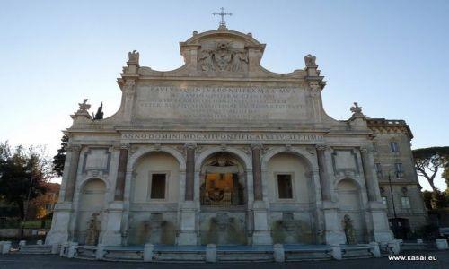 WłOCHY / brak / Rzym / Rzym fontanna Paola