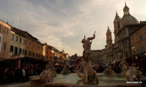W�OCHY / brak / Rzym / Rzym jarmark �wi�teczny na Piazza Navona
