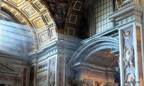 WłOCHY / brak / Rzym / Rzym Bazylika Św.Piotra wnętrze