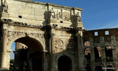 W�OCHY / brak / Rzym / Rzym �uk Tytusa i Koloseum